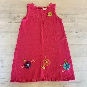 Girls Hanna Andersson Dress Pink Floral Sleeveless